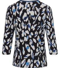 shirt van scheerwol en kasjmier met ronde hals van betty barclay multicolour
