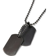 mens gunmetal dog necklace*