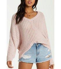 sweater mujer higher ground rosa billabong