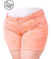 shorts plus size - confidencial extra jeans steve color