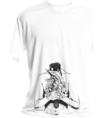 camiseta branca prorider bad rose personagem autoral nanami nem breakhead - kanui