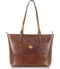 the bridge designer handbags, story donna large brown leather tote