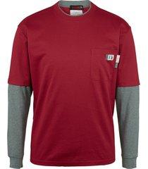 wolverine men's fr miter long sleeve tee dark red, size l