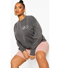 plus sun & moon sweatshirt, black