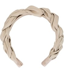 jennifer behr lorelei silk headband - grey