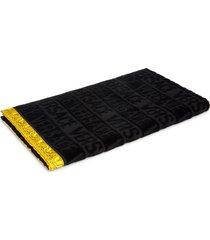 versace i heart baroque guest towel in black at nordstrom
