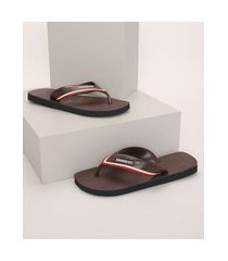chinelo masculino havaianas hybrid city marrom