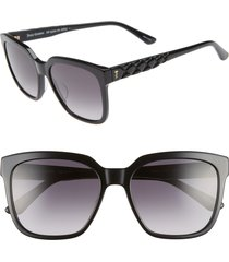 juicy couture core 55mm square sunglasses in pink at nordstrom