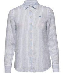 kirsten linen stripe shirt overhemd met lange mouwen blauw morris lady