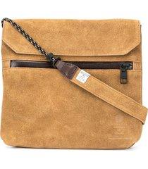 as2ov flat shoulder bag - brown