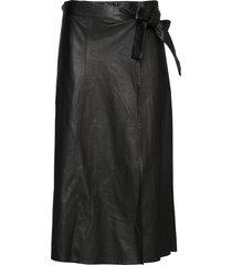 adeline new thin leather skirt knälång kjol svart mdk / munderingskompagniet