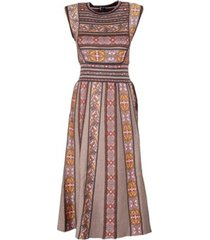 flower jaquard tricot dress