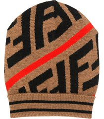 fendi kids gorro color block - neutro