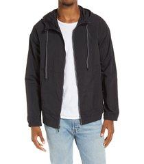 men's bp. hooded nylon jacket, size x-large - black