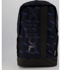 mochila adidas linear bp gu marinho e preta