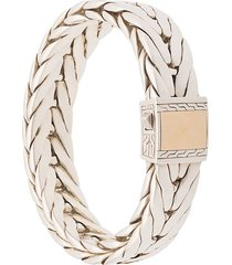 john hardy silver modern chain extra-large bracelet with 18k yellow