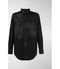 saint laurent coated western shirt