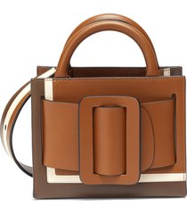 'bobby 18' small colourblock tonal buckle leather tote