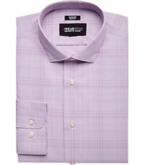 awearness kenneth cole burgundy plaid slim fit dress shirt