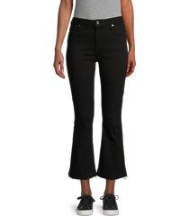 rta women's brandi high-rise crop flare jeans - black - size 29 (6-8)