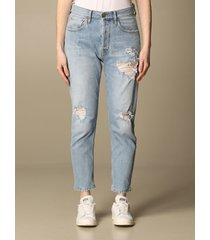 cycle jeans cycle boyfriend jeans in denim with rips