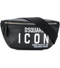 dsquared2 pochete com estampa icon - preto