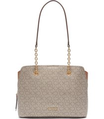 calvin klein signature hailey shopper