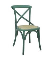 conjunto 04 cadeiras katrina verde rivatti
