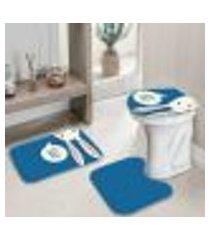 jogo tapetes para banheiro páscoa hi único 40x60