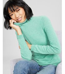 charter club cashmere turtleneck sweater, in regular and petites, created for macys