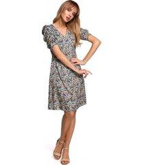 korte jurk moe m507 jumpsuit met ruches - indiaans roze