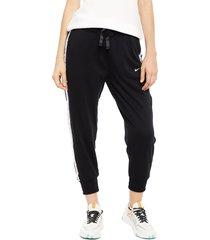 pantalón nike w nk dry flc get fit pt7/8 x negro - calce ajustado