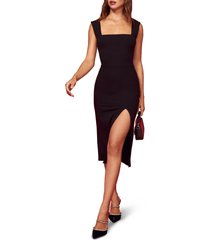 women's reformation cassi sheath dress, size x-large - black