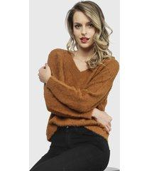 sweater nrg marrón - calce holgado