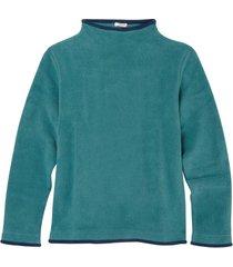 fleece pullover, petrol/nachtblauw l