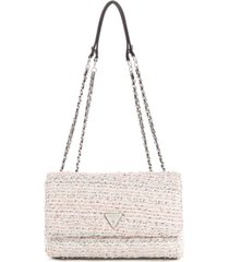 cartera cessily convertible xbody flap blanco guess