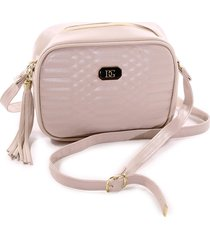 bolsa feminina transversal mini bag dg areia