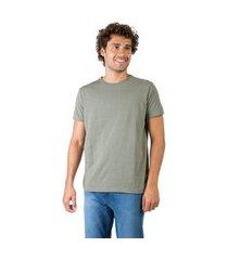 t-shirt básica mescla comfort verde militar verde militar/gg
