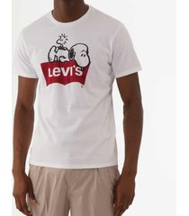 levi's x peanuts snoopy graphic housemark t-shirt - white 224910512