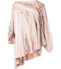palmer//harding asymmetric triangle blouse - pink