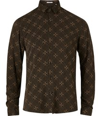 skjorta ornamental viscose shirt l/s