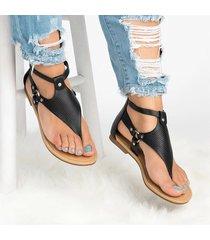 sandali a punta piatta con clip piatta di qualità