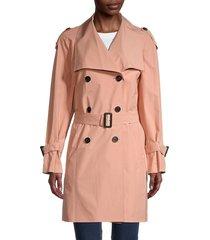 mackage women's cinzia trench coat - black - size m