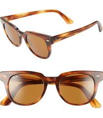 men's ray-ban wayfarer 50mm square sunglasses - striped havana