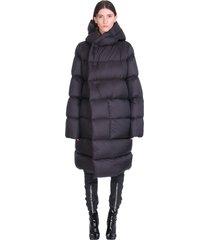 rick owens ls hoodie liner puffer in black polyamide