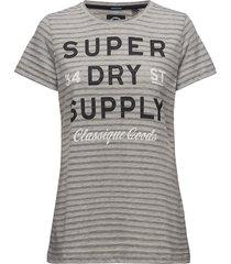 classique goods long line tee t-shirts & tops short-sleeved grå superdry
