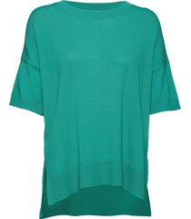 sfwille ss knit pullover t-shirts & tops short-sleeved grön selected femme