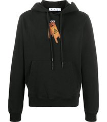 off-white pascal skeleton slim-fit hoodie - black