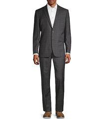 classic fit plaid wool suit