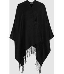 reiss gia - poncho in black, womens